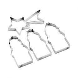 "Set de 3 cortadores ""Muñeca Rusa"""