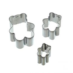 "Set 3 Cookie Cutters ""Cupcake"""