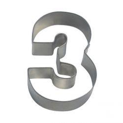 """Emporte-pièce """"Chiffre 3"""""""