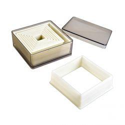 Set de 9 emporte-pièces carrés lisses