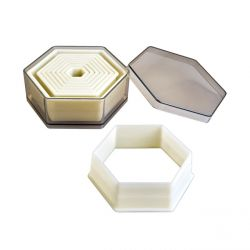 "Set 9 Cookie Cutters ""Hexagon Plain"""