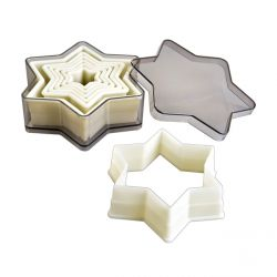 "Set 6 Cookie Cutters ""Star Plain"""