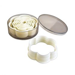 "Set 8 Cookie Cutters ""Flower Plain"""