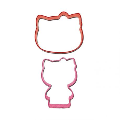 "Set de 2 emporte-pièces ""Hello Kitty"""