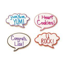 "Set 3 Cookie Cutters ""LOL"""