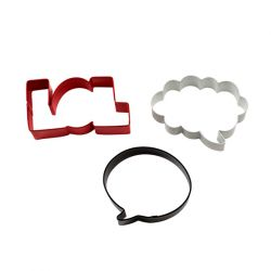 "Set 3 Cookie Cutters ""LOL"""