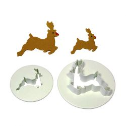 "Set 2 Cookie Cutters ""Reindeer"""