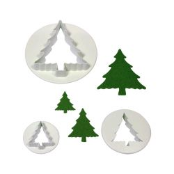 "Set 3 Cookie Cutters ""Christmas Tree"""