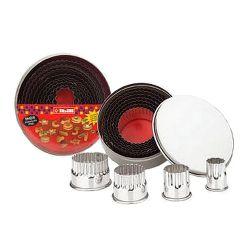 Set de 11 emporte-pièces inox ronds cannelés