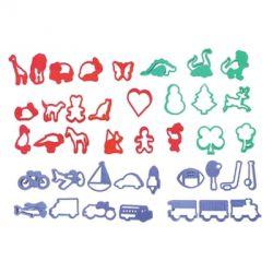 """Set de 40 cortadores """"Vehiculos y Animales"""""""