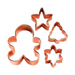 "Set 4 Cookie Cutters ""Christmas"""
