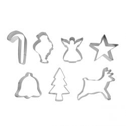 """Set 7 Cookie Cutters """"Christmas"""""""