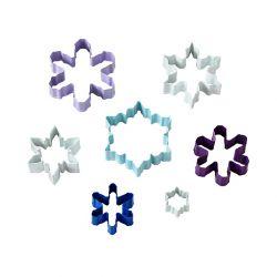 "Set 7 Cookie Cutters ""Snowflake"""