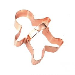 "Vintage Copper Cookie Cutter ""Gingerbread Man"""