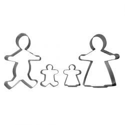 """Set de 4 emporte-pièces """"Famille"""""""