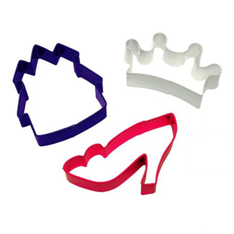"Set 3 Cookie Cutters ""Princess"""