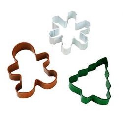 "Set 3 Cookie Cutters ""Christmas"""