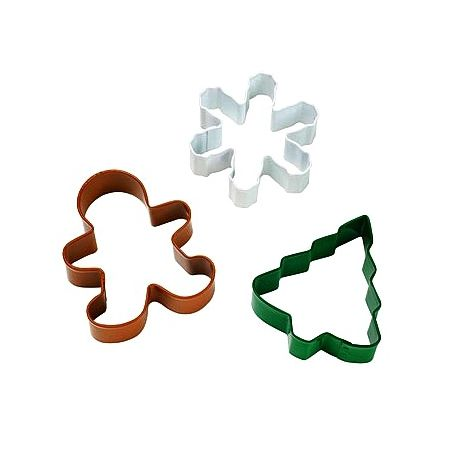 """Set 3 Cookie Cutters """"Christmas"""""""
