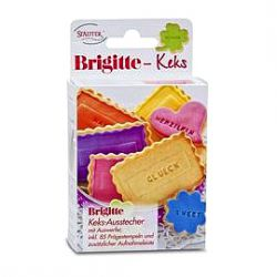 "Cookie Text Stamp ""Brigitte Keks"""