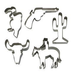 "Set 5 Cookie Cutters ""Western"""