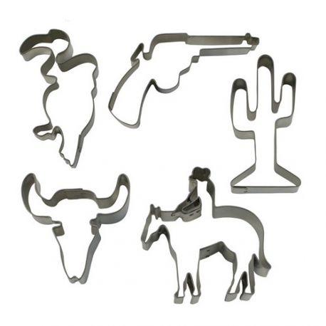 """Set de 5 cortadores """"Western"""""""