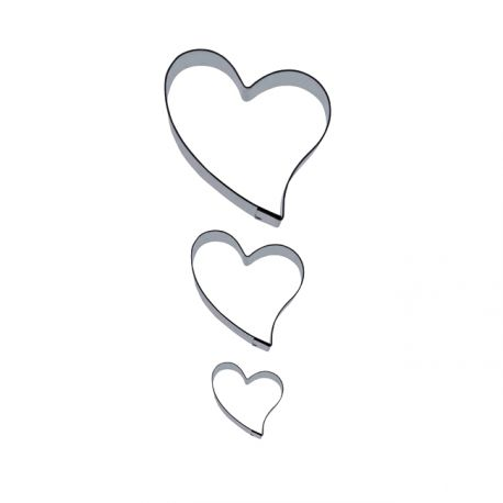 "Set 3 Cookie Cutters ""Heart"""