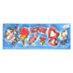 """Set 7 Cookie Cutters """"Love"""""""