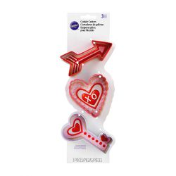 "Set 3 Cookie Cutters ""Valentine's Day"""