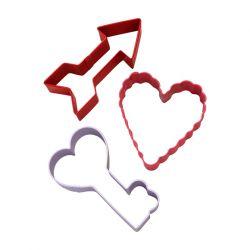 "Set de 3 cortadores ""San Valentin"""