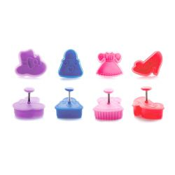 "Set 4 Plunger Cutters ""Fashion"""