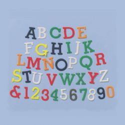 "Set 4 Cookie Cutters ""Numbers & Letters"" - UPPERCASE"