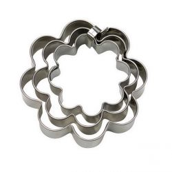 "Set 3 Cookie Cutters ""Flower"" - Fluted"