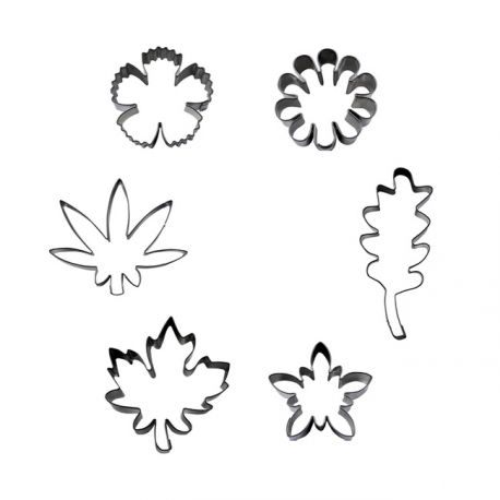 "Set 6 Cookie Cutters ""Flowers & Leafs"""