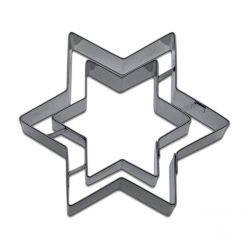 "Cookie Cutter ""Double star"""