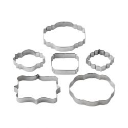 "Set 6 Cookie Cutters ""Cut-Outs Plaque"""