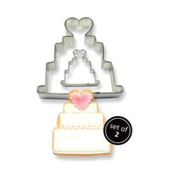 "Set 2 Cookie Cutters ""Wedding Cake"""