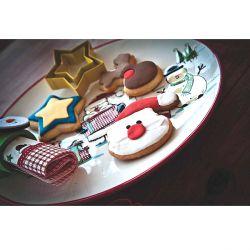 """Set 4 Cookie Cutters """"Santa & Friends"""""""