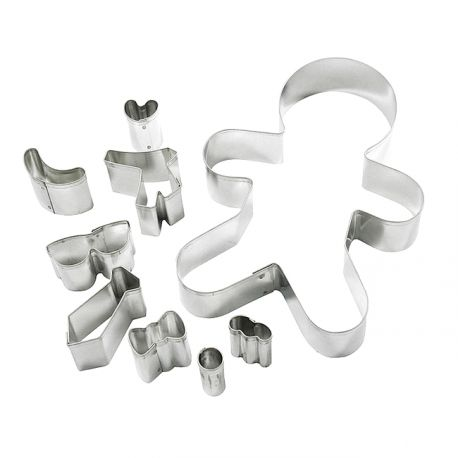 "Set 9 Cookie Cutters ""Gingerbread Man"""