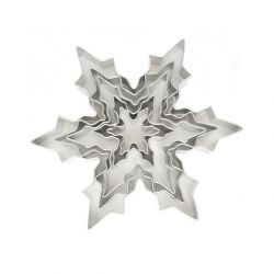 "Set 5 Cookie Cutters ""Snowflake"""