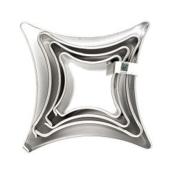 "Set 4 Cookie Cutters ""Square"""