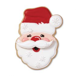 "Set 2 Cookie Cutters ""Santa with Mustache"""
