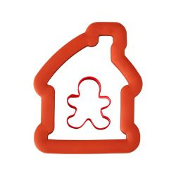 "Set 2 Cookie Cutters ""Gingerbread House with Boy"""