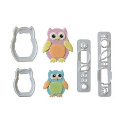 "Set 4 Cookie Cutters ""Baby Owl"""