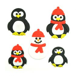 """Set 4 Cookie Cutters """"Baby Penguin"""""""