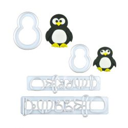 "Set 4 Cookie Cutters ""Baby Penguin"""
