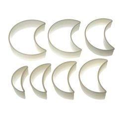 "Set 7 Cookie Cutters ""Half-Moon Plain"""