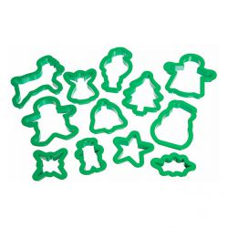 """Set 12 Cookie Cutters """"Christmas"""""""