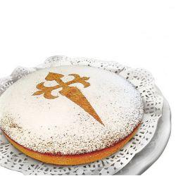 """Pochoir à gâteau """"Croix de Saint-Jacques"""""""
