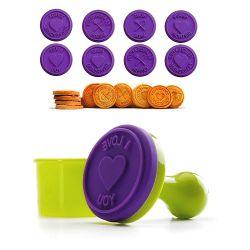 Cortador + 8 sellos para galletas