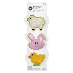 "Set 3 Cookie Cutters ""Easter"""
